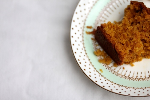 a slice of pumpkin bread