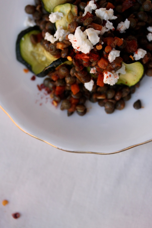 smoky lentil salad
