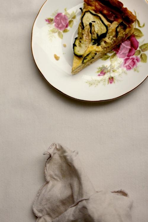 zucchini and leek quiche