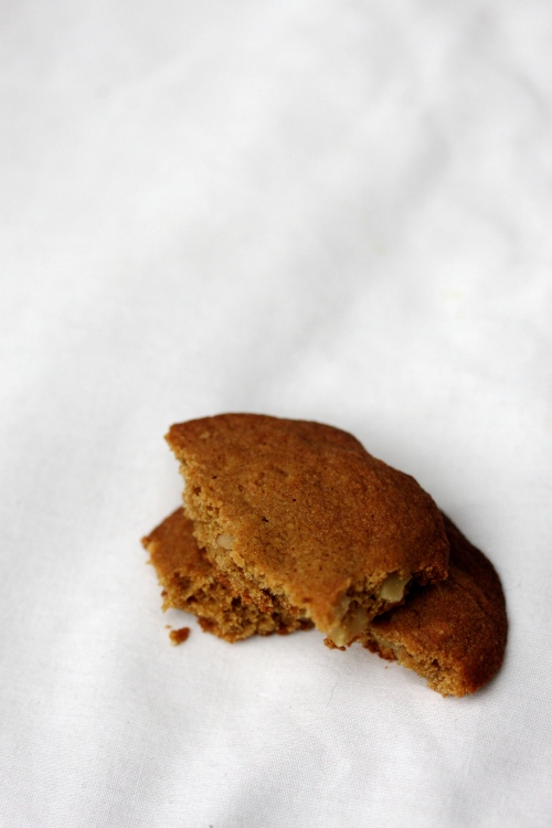 caramel and walnut cookie