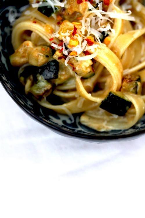 creamy zucchini linguine